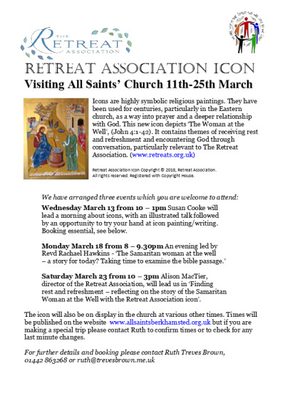 Quiet Day - reflecting on the icon story of the Samaritan woman at the well (John 4:1-42)